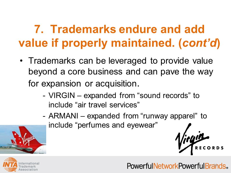 Trademarks can be leveraged to provide value beyond a core business and can pave the way for expansion or acquisition.