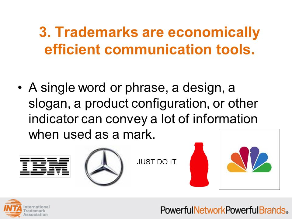 3. Trademarks are economically efficient communication tools.
