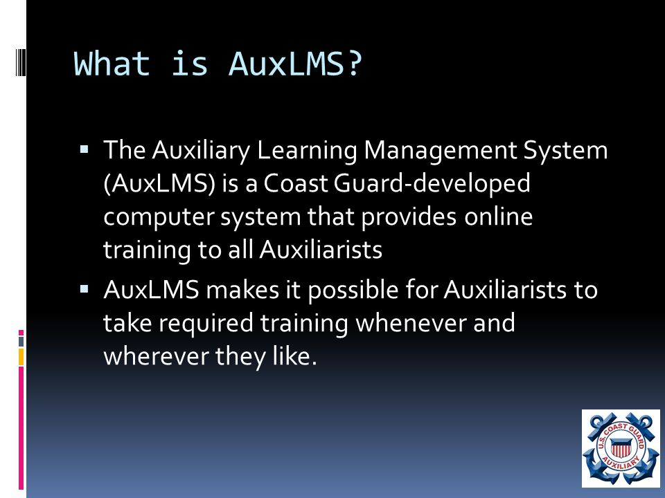 What is AuxLMS.