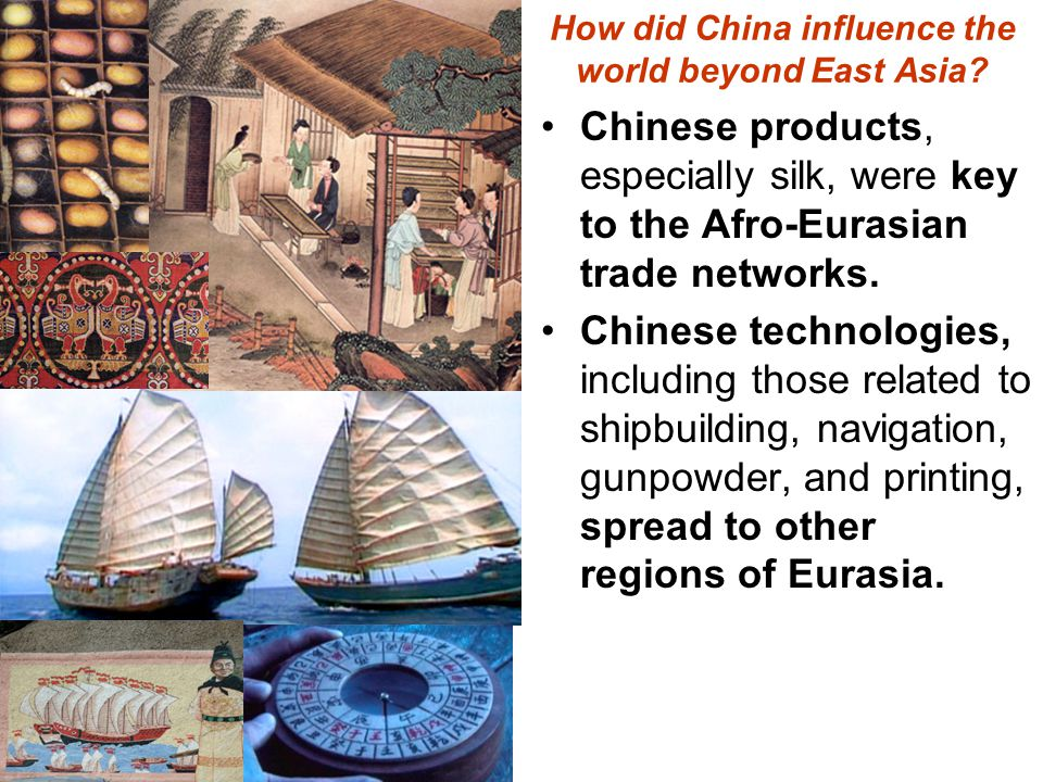 How did China influence the world beyond East Asia.