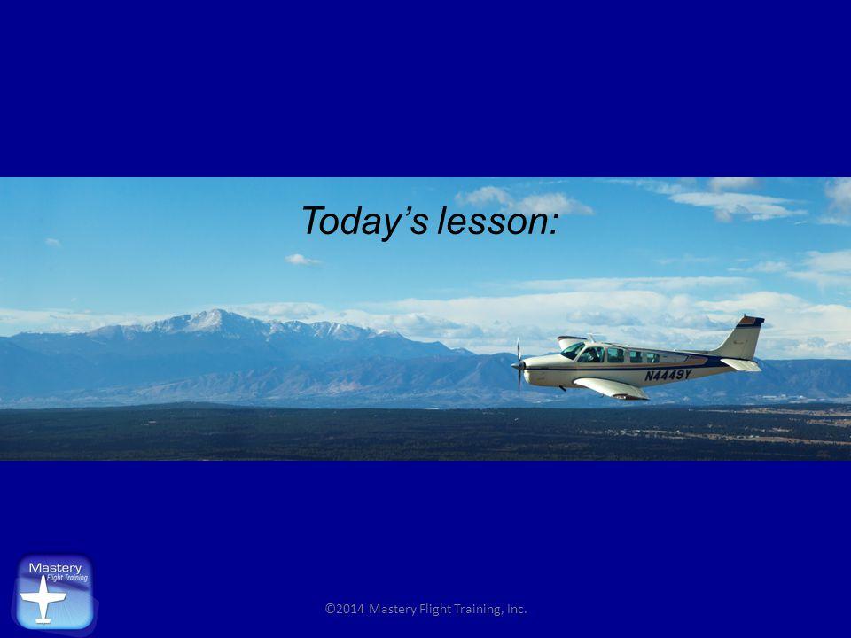 AoA Indications (Alpha Systems display) ©2014 Mastery Flight Training, Inc.