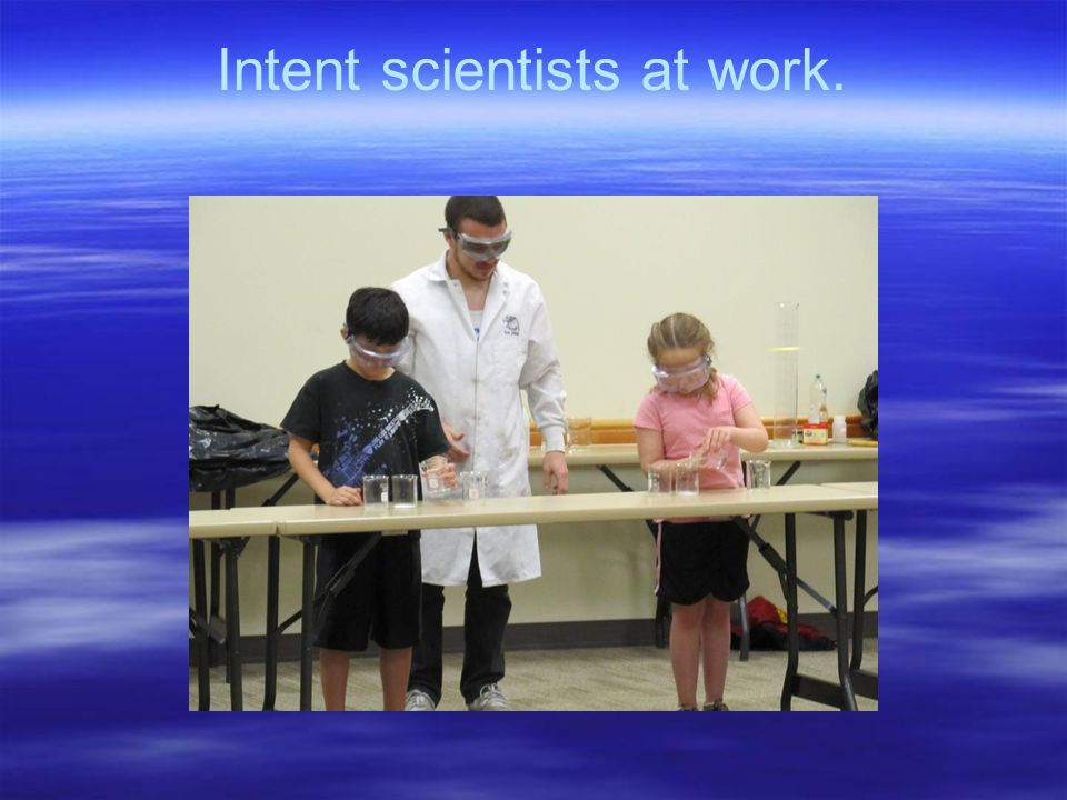 Intent scientists at work.