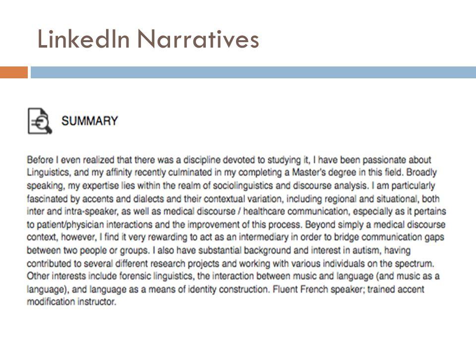 LinkedIn Narratives