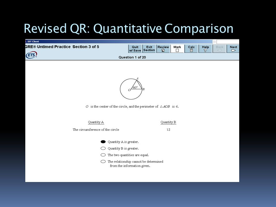 Revised QR: Quantitative Comparison