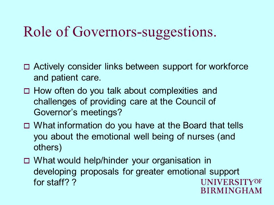 Role of Governors-suggestions.