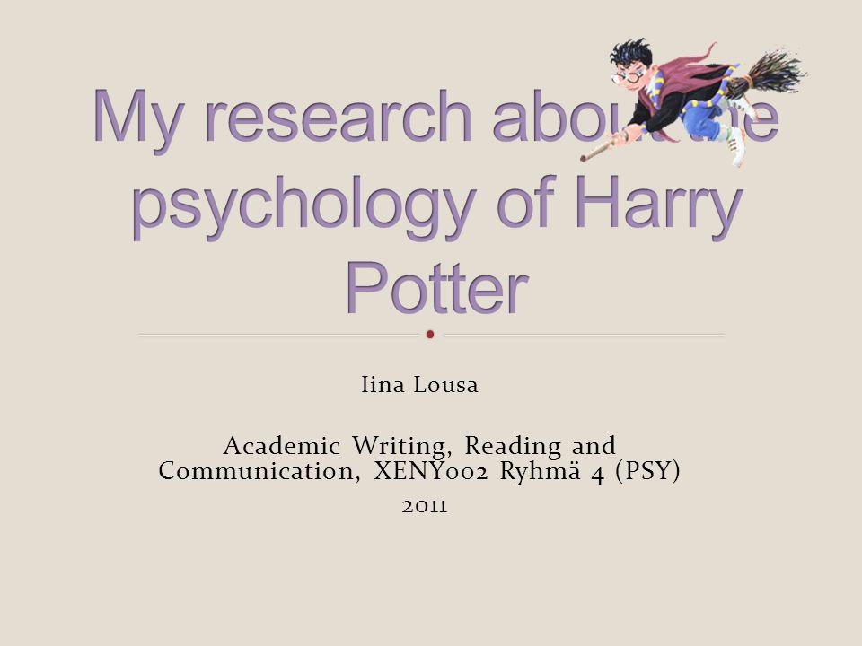 Iina Lousa Academic Writing, Reading and Communication, XENY002 Ryhmä 4 (PSY) 2011