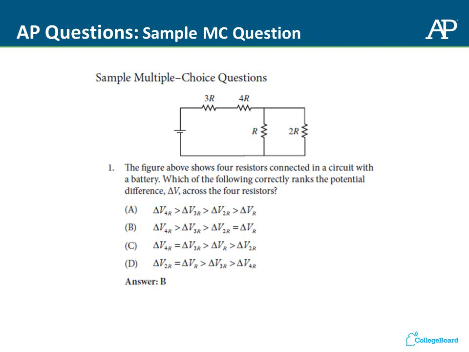 AP Questions: Sample MC Question