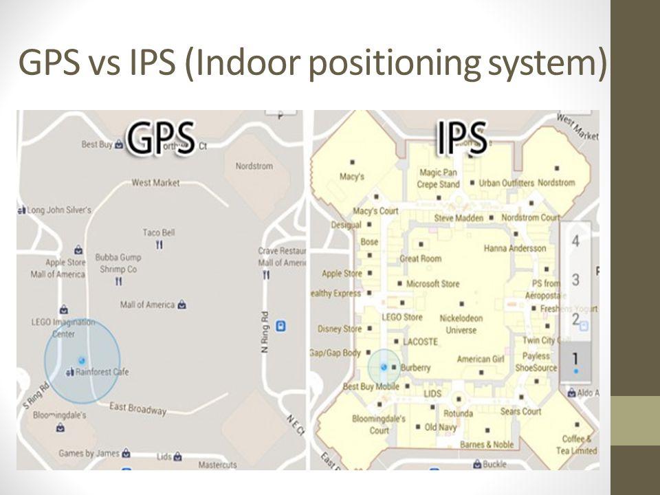 GPS vs IPS (Indoor positioning system)