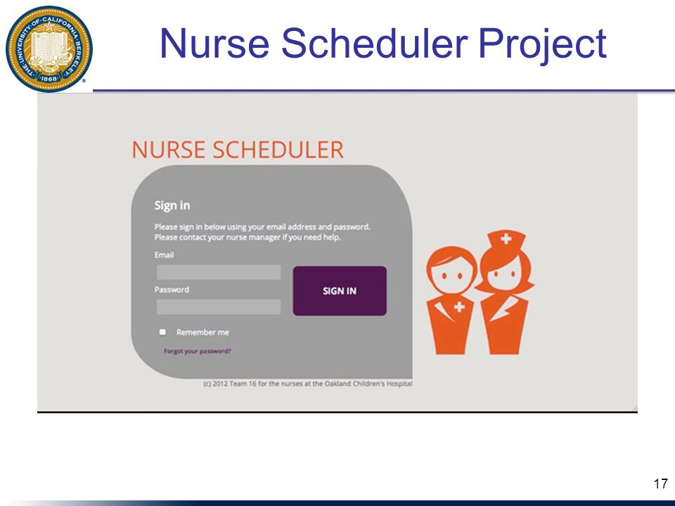 Nurse Scheduler Project 17