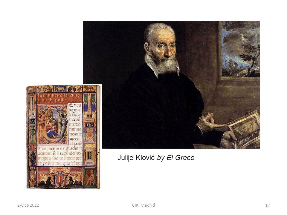 2-Oct-2012CIKI Madrid17 Julije Klović by El Greco
