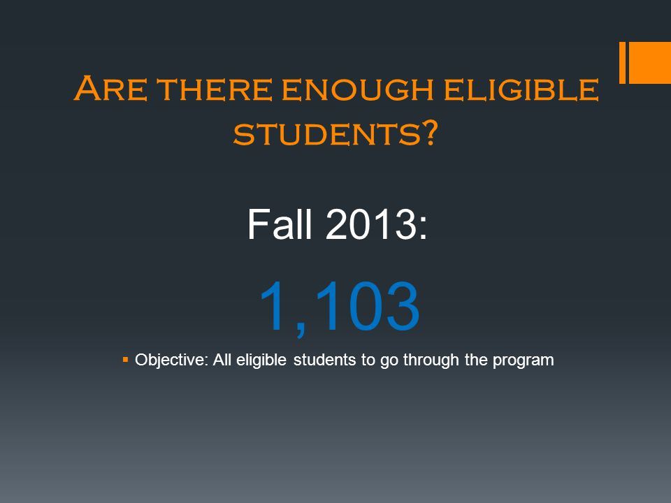 Are there enough eligible students.