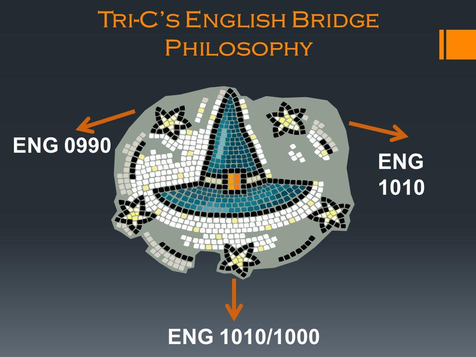 Tri-C's English Bridge Philosophy ENG 0990 ENG 1010 ENG 1010/1000