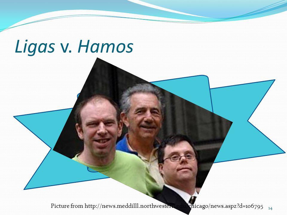 Ligas v. Hamos 14 Picture from http://news.meddilll.northwestern.edu/chicago/news.aspz d=106795