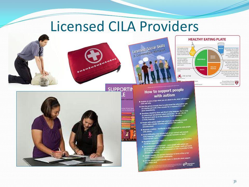 Licensed CILA Providers 31