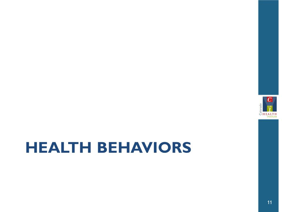 HEALTH BEHAVIORS 11