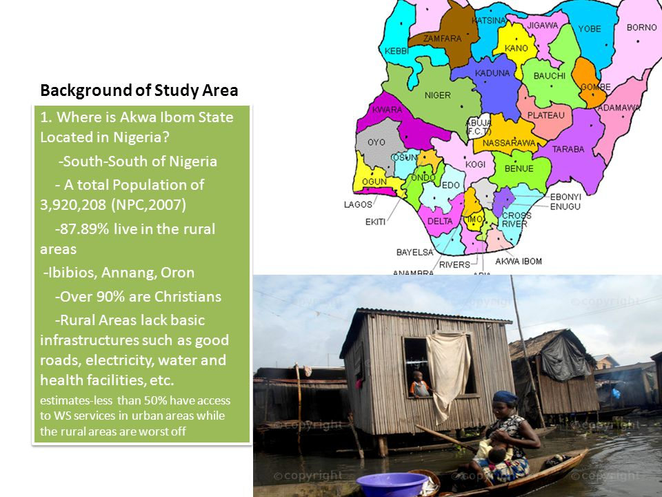 Background of Study Area 1. Where is Akwa Ibom State Located in Nigeria.