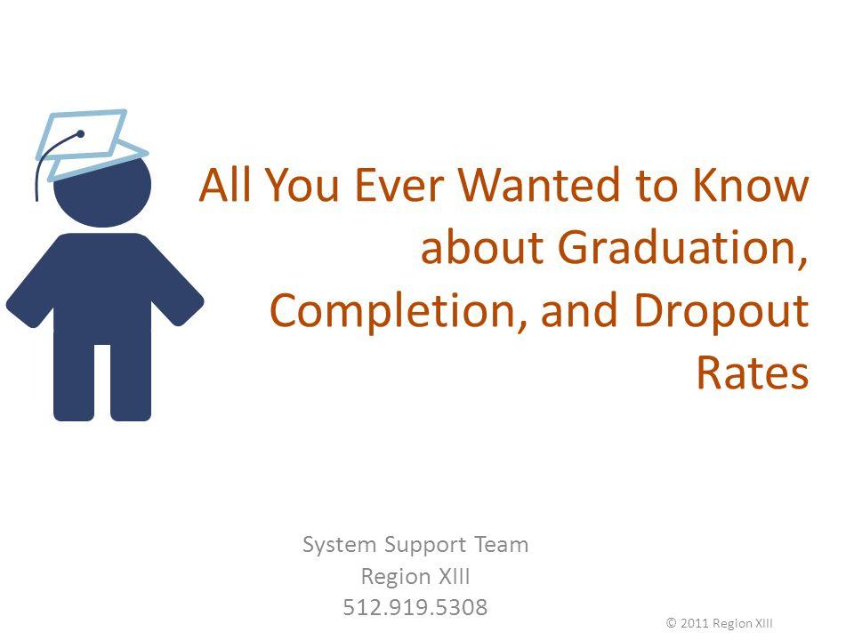GRADUATION RATE Graduation Rate - AYP C GED + ++ 75% © 2011 Region XIII