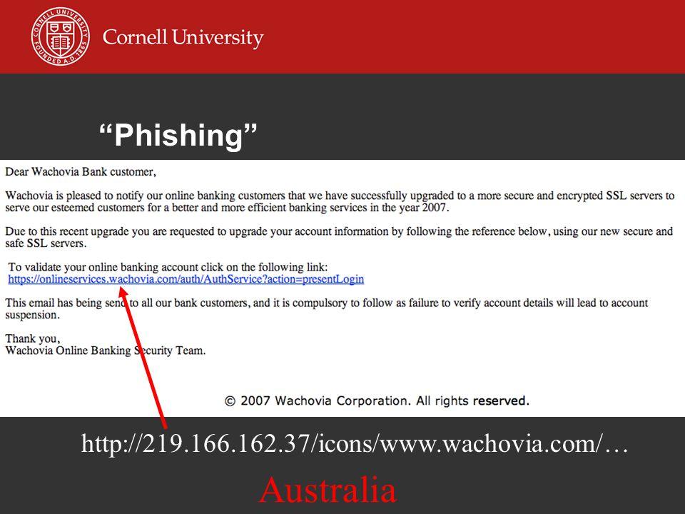 Phishing http://219.166.162.37/icons/www.wachovia.com/… Australia