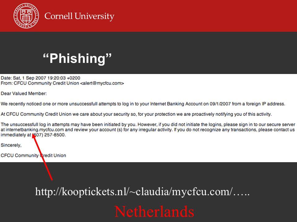 Phishing http://kooptickets.nl/~claudia/mycfcu.com/….. Netherlands