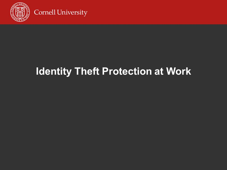 Identity Theft Protection at Work