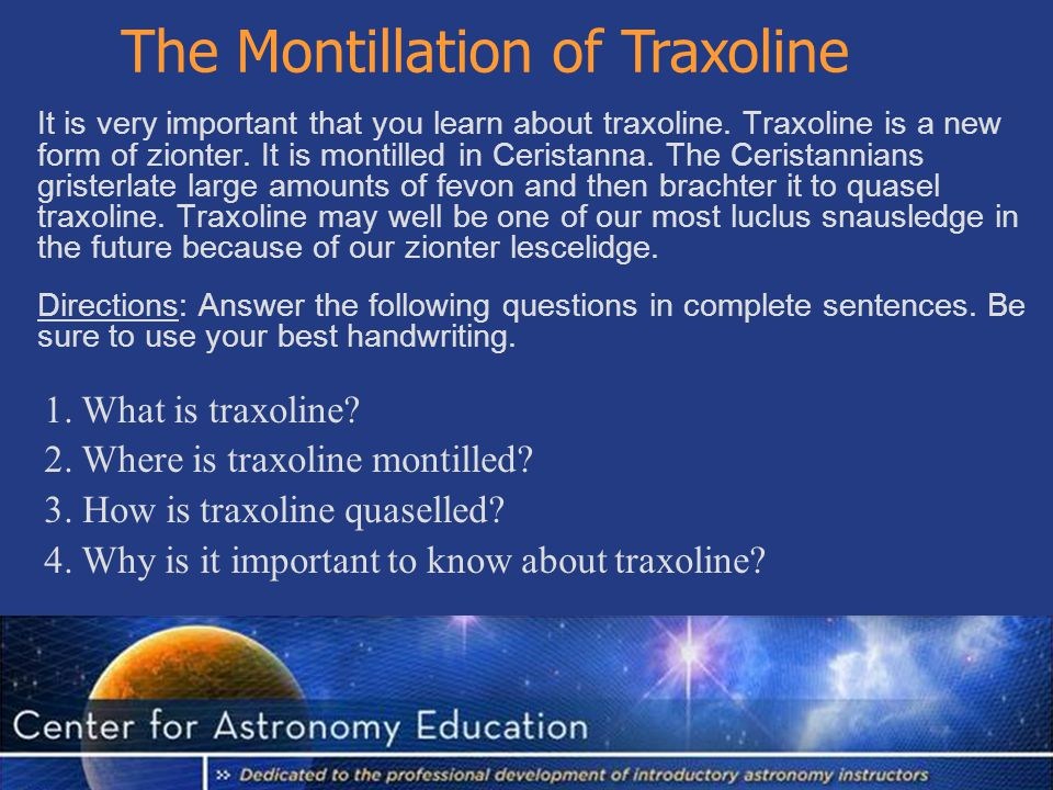 The Montillation of Traxoline It is very important that you learn about traxoline.