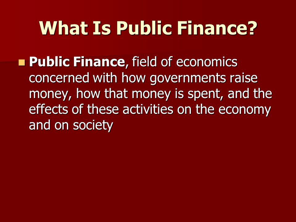 What Is Public Finance.