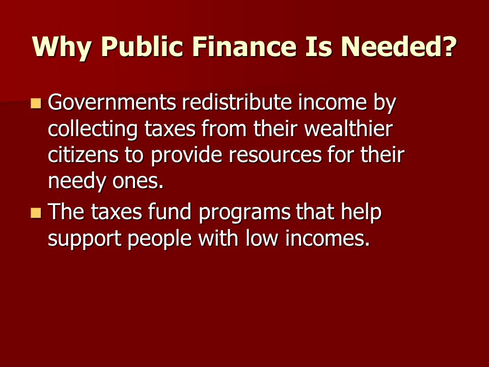 How Public Finance Affects the Economy.