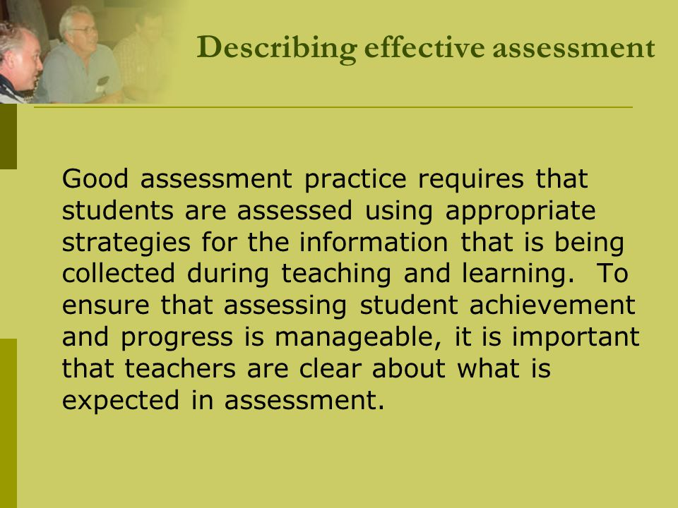 Quality Teaching Assessment Practice How well do you expect them to do it.