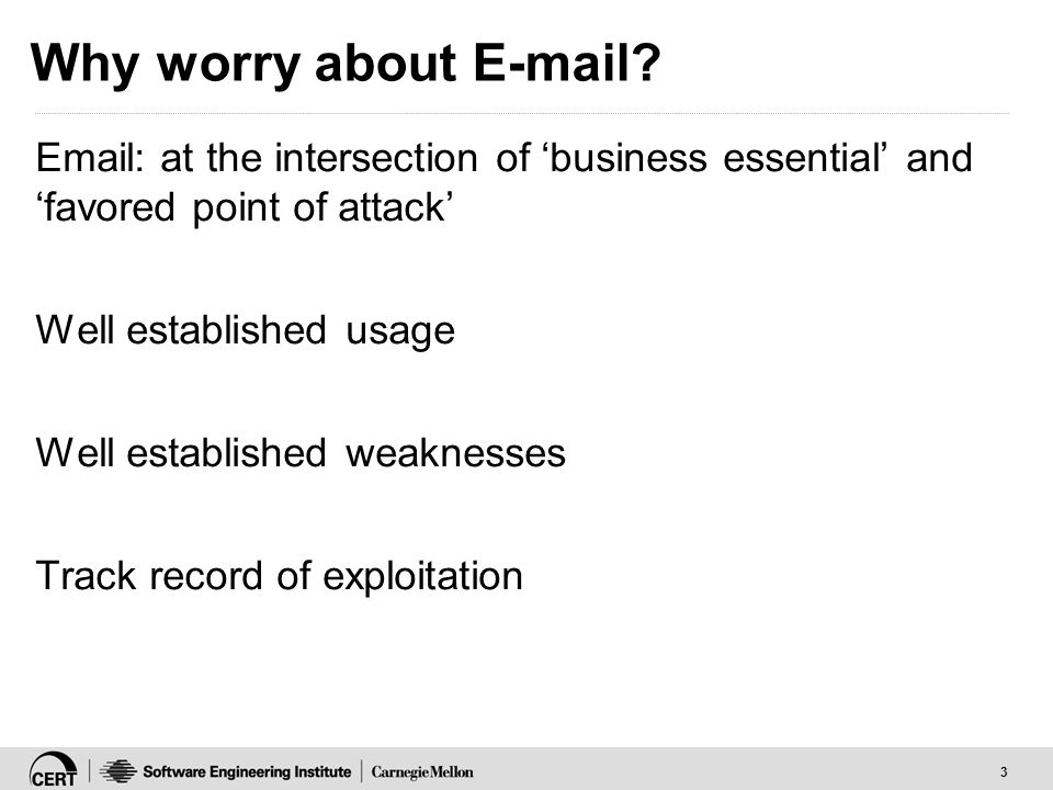 3 Why worry about E-mail.