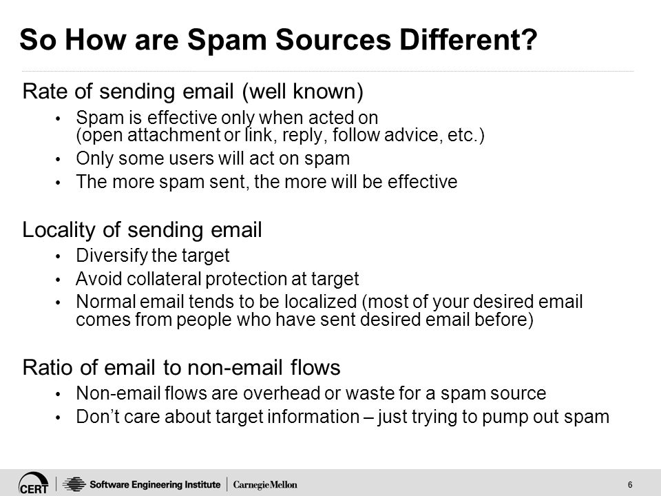 6 So How are Spam Sources Different.