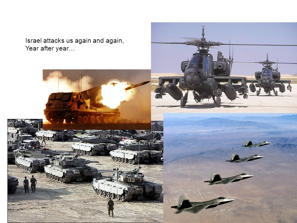 Israel attacks us again and again, Year after year…