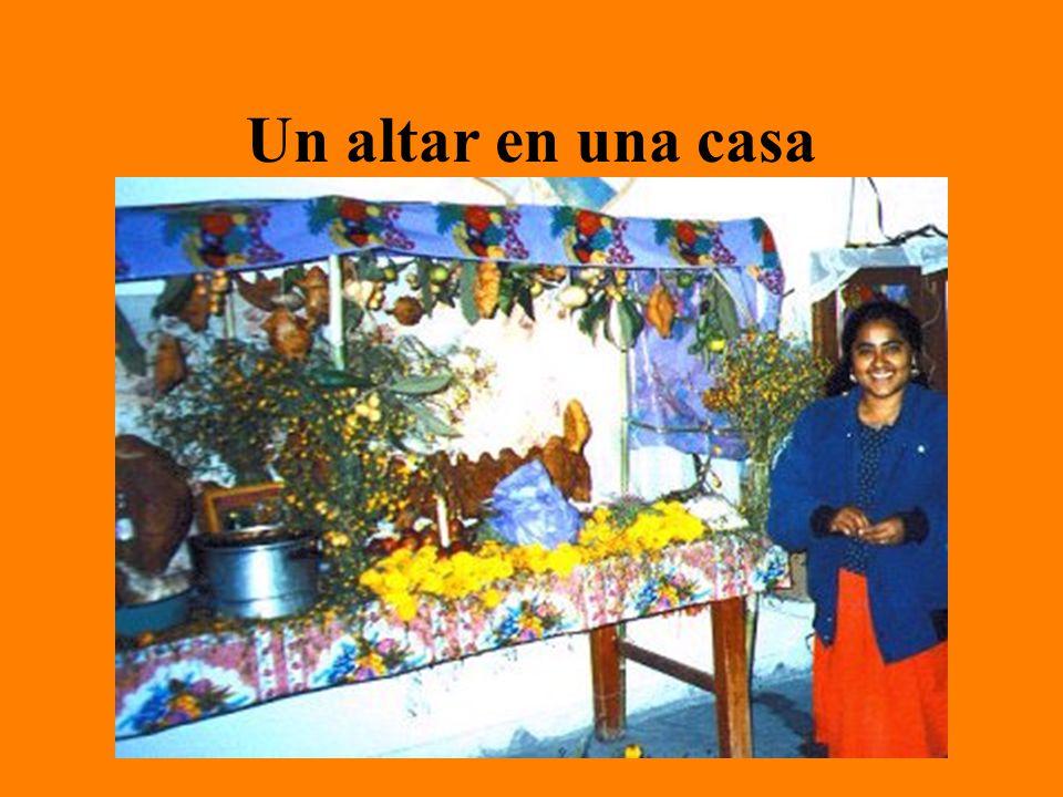 Un altar en una casa