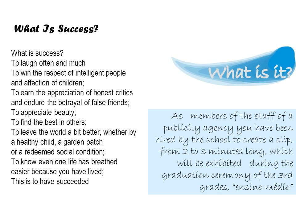 What is success.