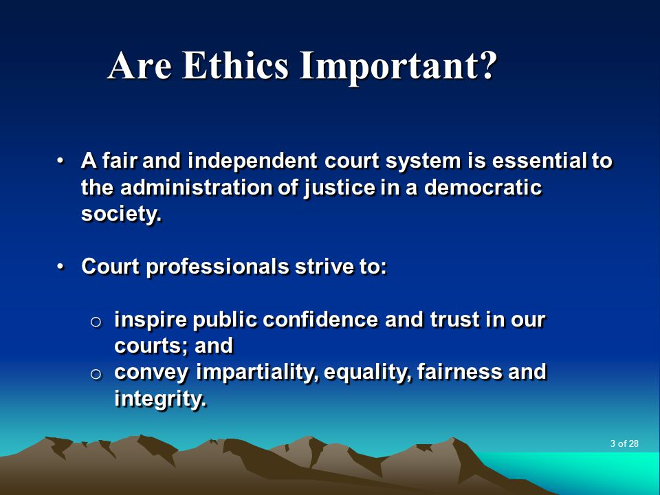 Are Ethics Important.