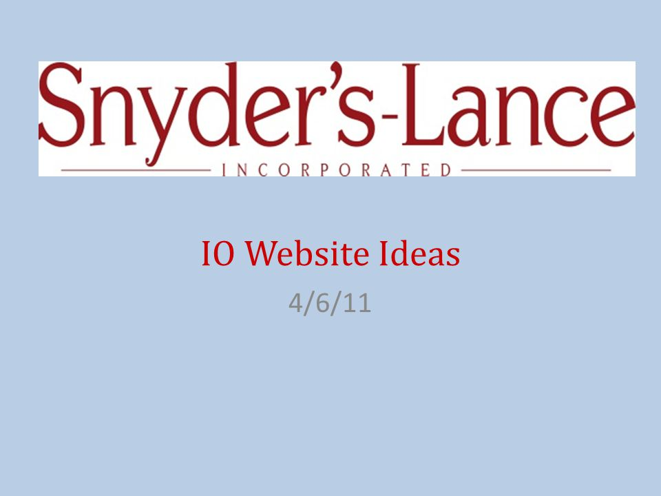 IO Website Ideas 4/6/11