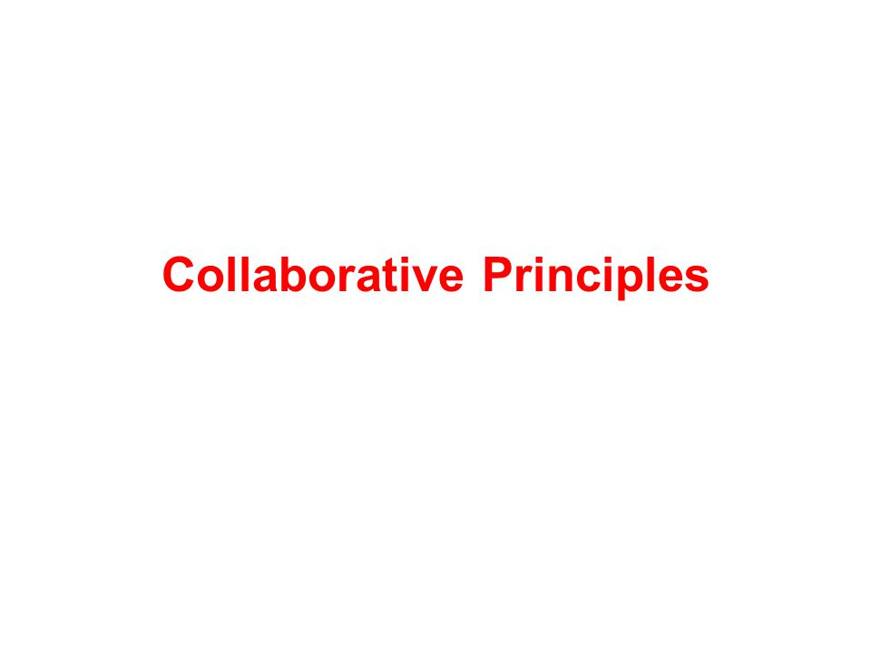 Collaborative Principles