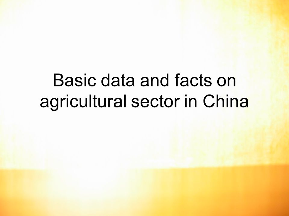 14 Agricultural production and trade of China
