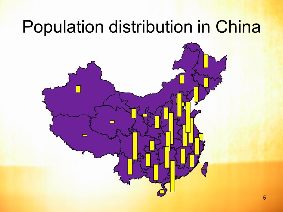 5 Population distribution in China