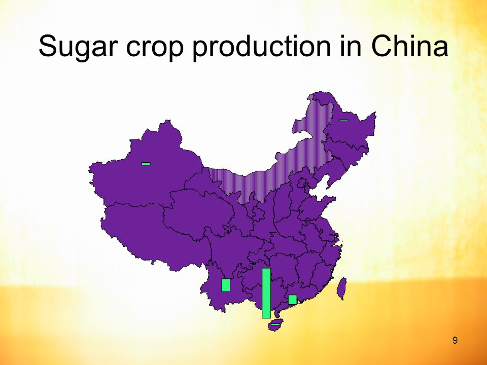 9 Sugar crop production in China