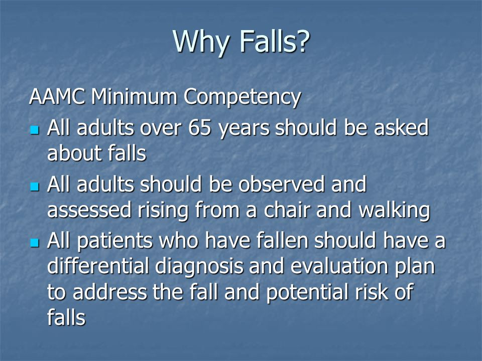 Why Falls.Medicare PQRI Program Medicare PQRI Program Incentive pay for falls screening.