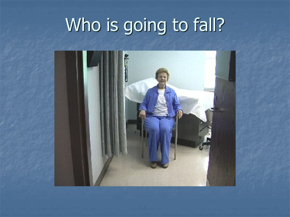 How will you identify who will fall?