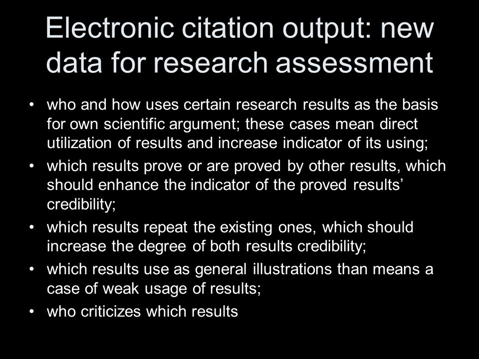Electronic visualization of professional impact Scientists create specific links from their personal profiles to certain articles, which inform a community about scientists' individual opinions about the impact of the article on a Science They are using a set of qualitative characteristics to specify the impact