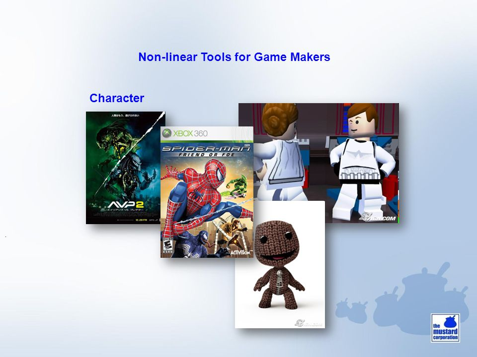 Non-linear Tools for Game Makers. Character