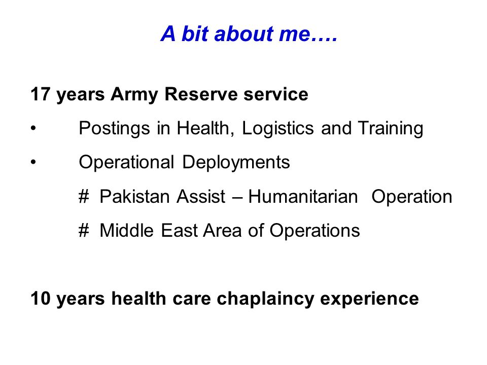 Operational Chaplaincy Chaplains are an under utilised operational resource – a holistic approach would address this
