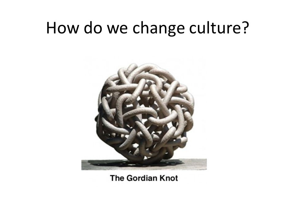 How do we change culture