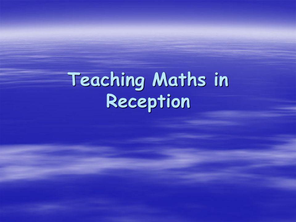 Teaching Maths in Reception
