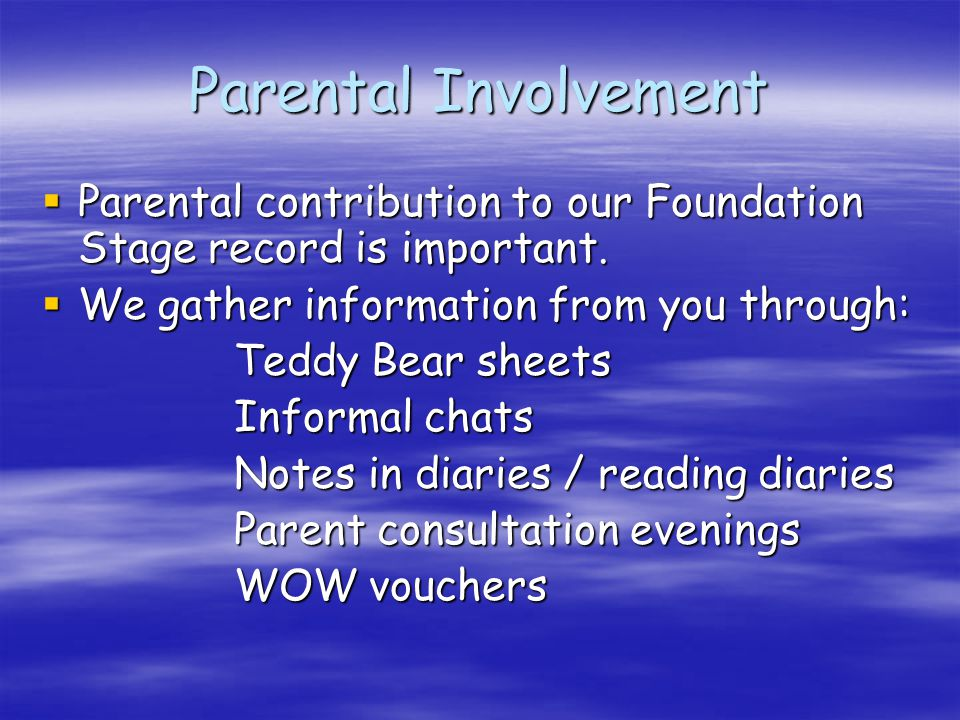 Parents as Partners and Communication  Curriculum newsletters  What have we done today.