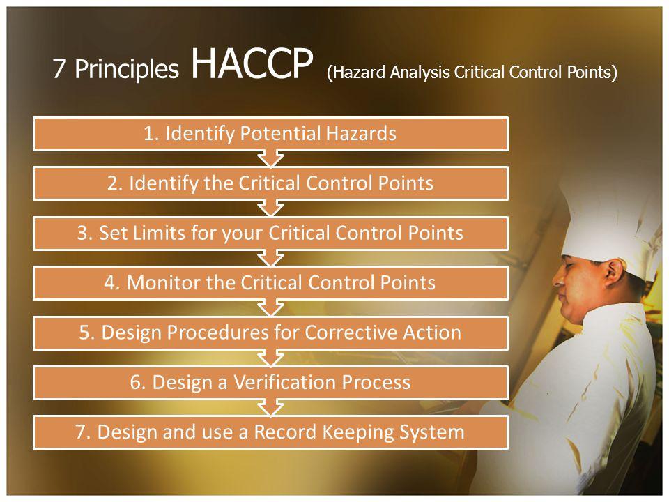 7 Principles HACCP (Hazard Analysis Critical Control Points) 7.