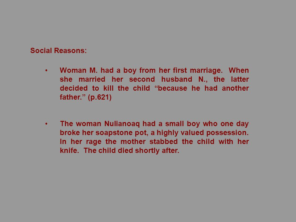 Woman M.had a boy from her first marriage.