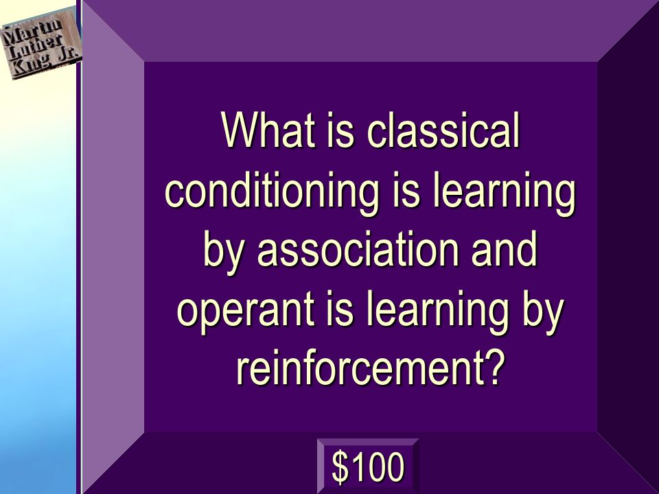 What is classical conditioning is learning by association and operant is learning by reinforcement.